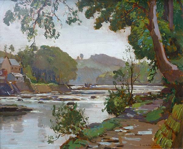 Halton Rocks by Samuel Lamorna Birch
