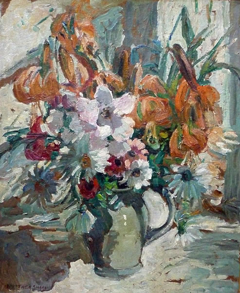 Flower Painting by Dorothea Sharp